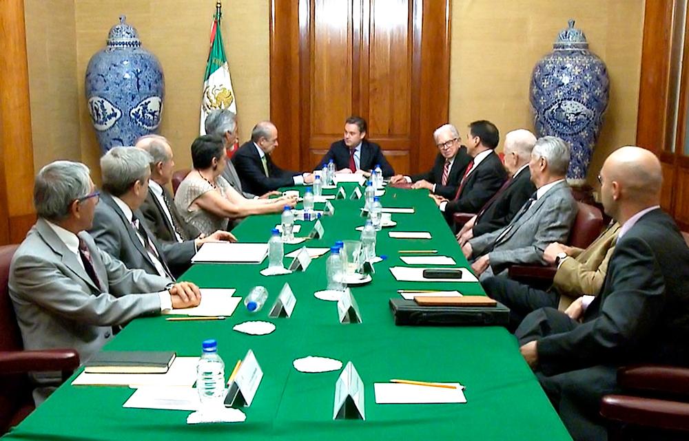 Se reúne Nuño Mayer con el director general y ex directores generales del Instituto Politécnico Nacional