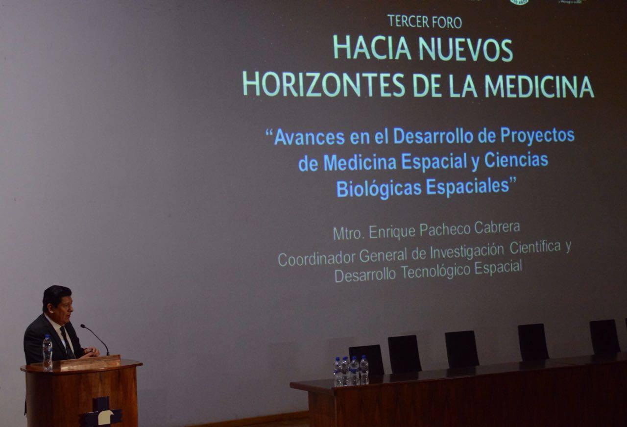 Avances en el Desarrollo de Proyectos de Medicina Espacial y Ciencias Biológicas Espaciales, exposición de la #AgenciaEspacialMexicana