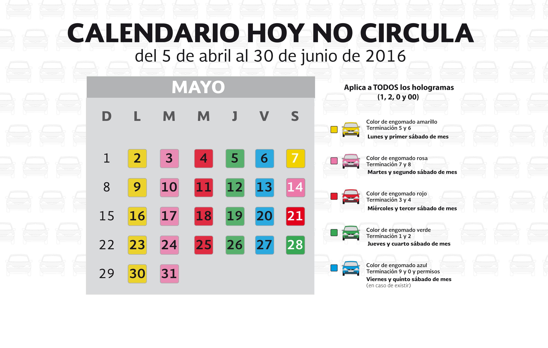 calendario hoy no circula cdmx calendario hoy no circula