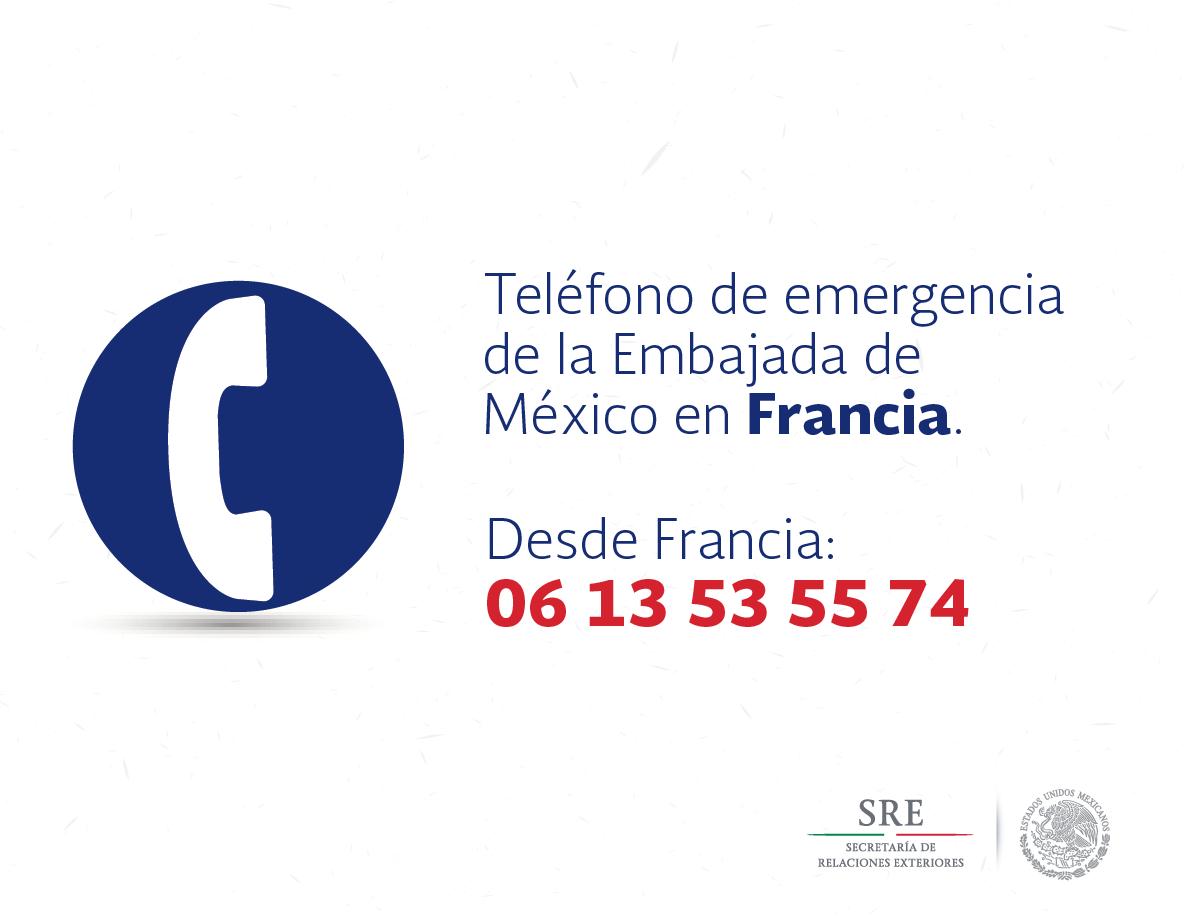 Aviso Tel Fonos De Asistencia Para Mexicanos En Francia Secretar A De Relaciones Exteriores