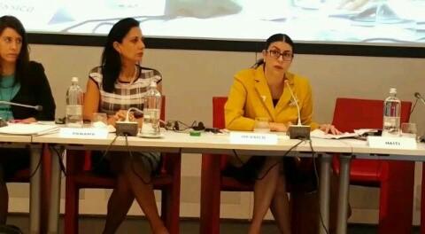 FOTO La subsecretaria Vanessa Rubio en la VII Conferencia Italia Am rica Latina y el Caribejpg