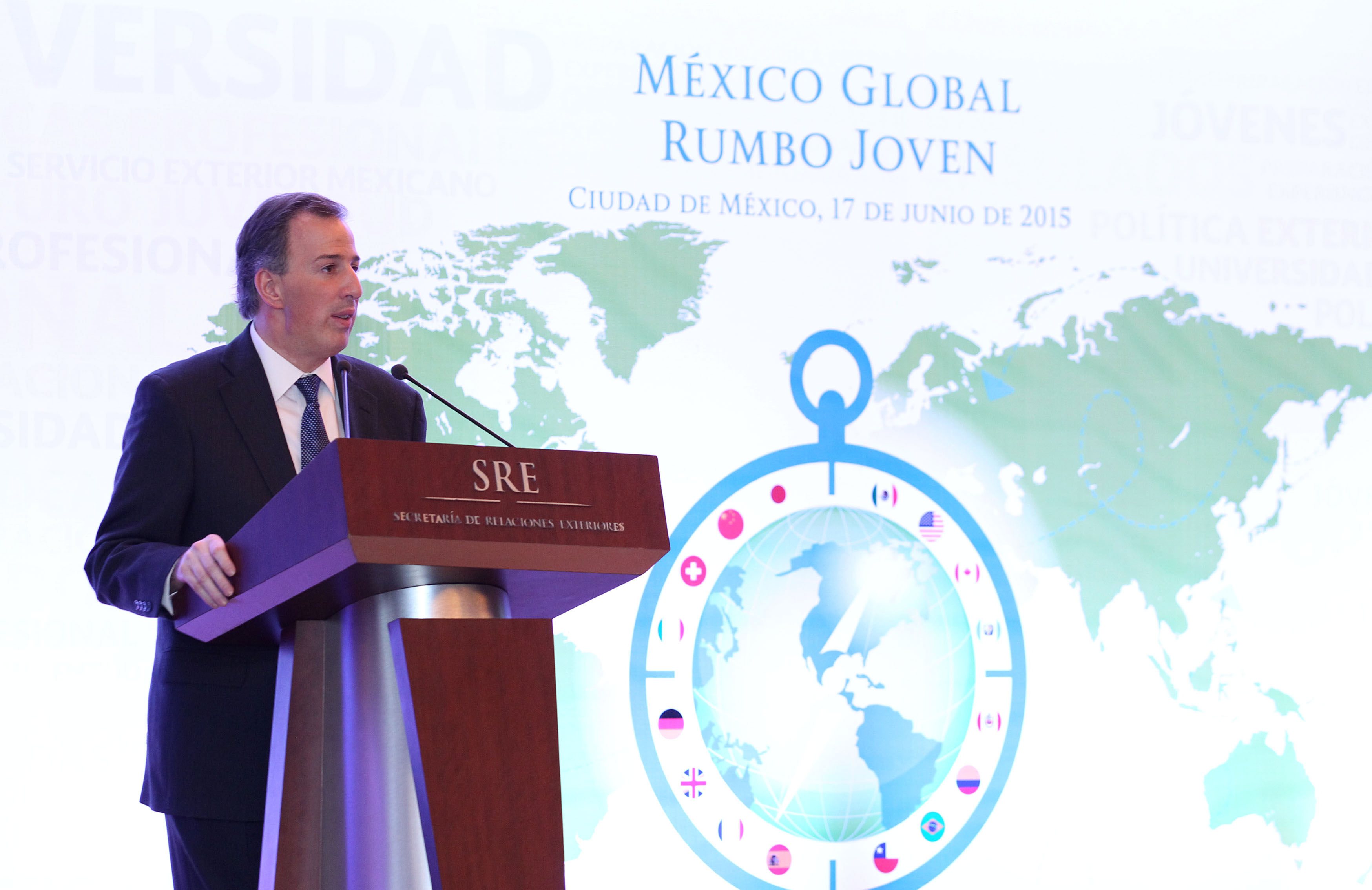 FOTO 1 Canciller Jos  Antonio Meade en el evento M xico Global Rumbo Jovenjpg