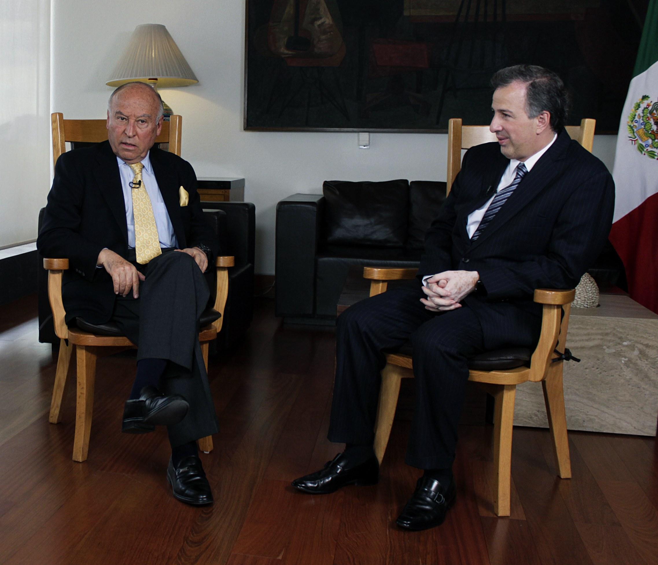 FOTO Canciller Jos  Antonio Meade con el presidente ejecutivo del CAF Banco de Desarrollo de Am rica Latina  Enrique Garc a Rodr guezjpg