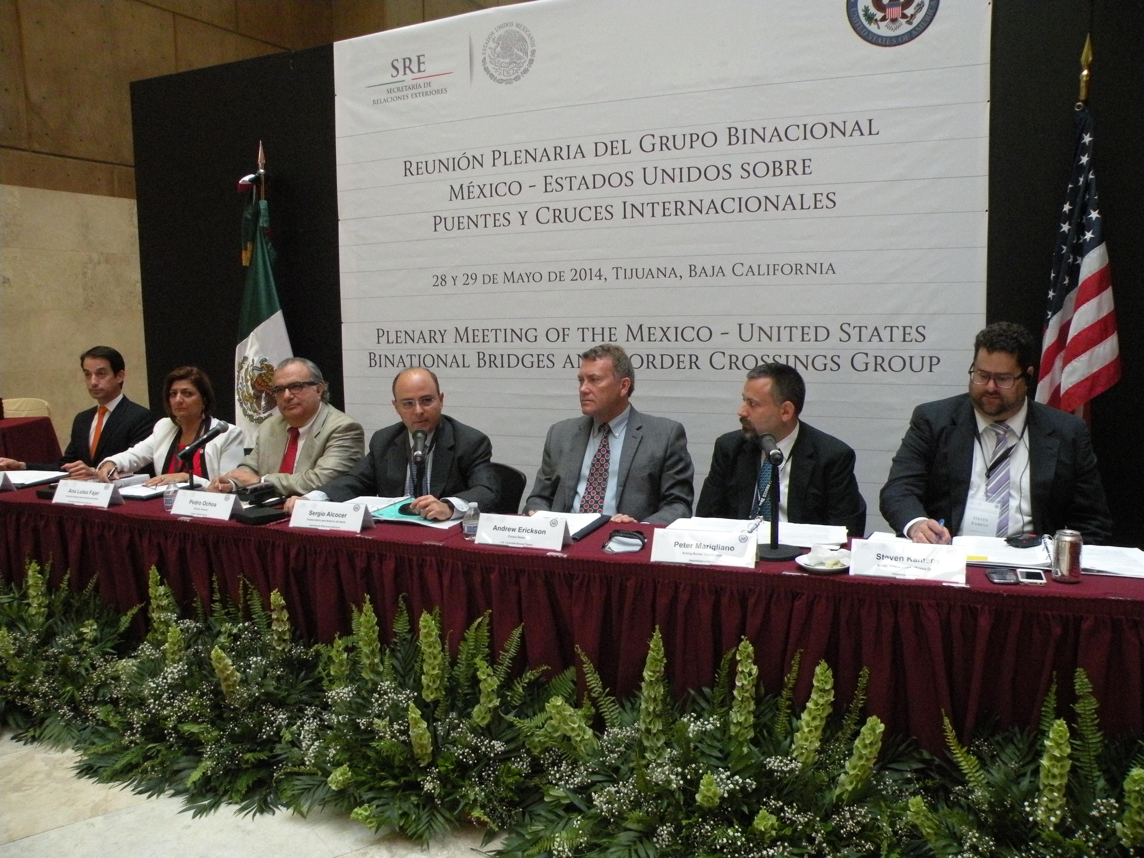 Reuni n Plenaria del Grupo Binacional M xico Estados Unidos de Cruces y Puentes Internacionales2jpg