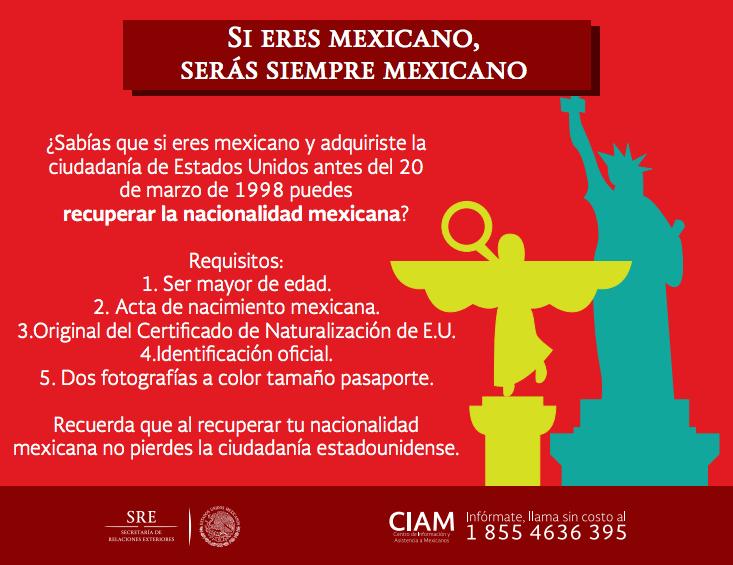 Doble ciudadanía | Centro de Información y Asistencia a Mexicanos ...