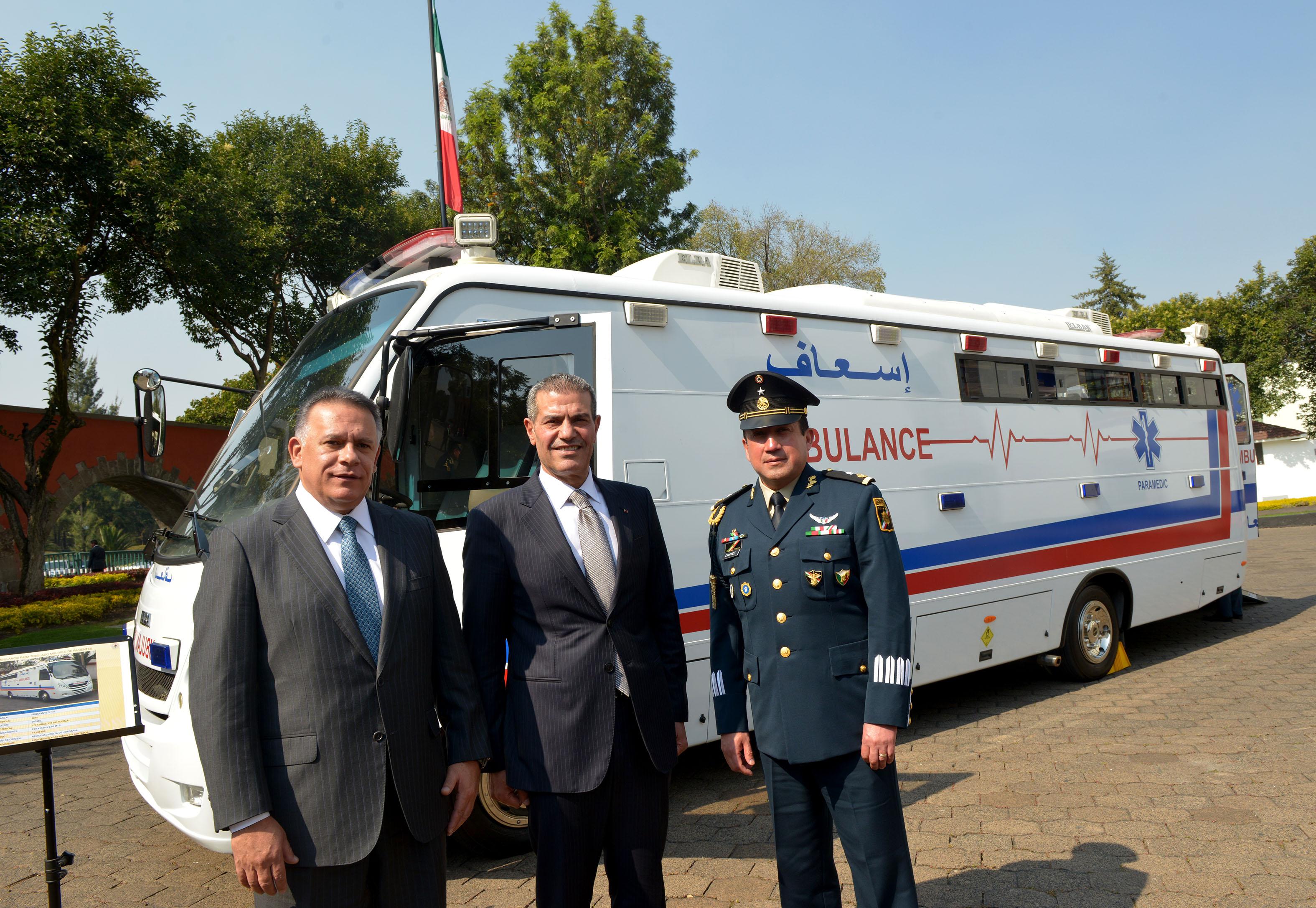Estado Mayor Presidencial recibe ambulancia de Jordania