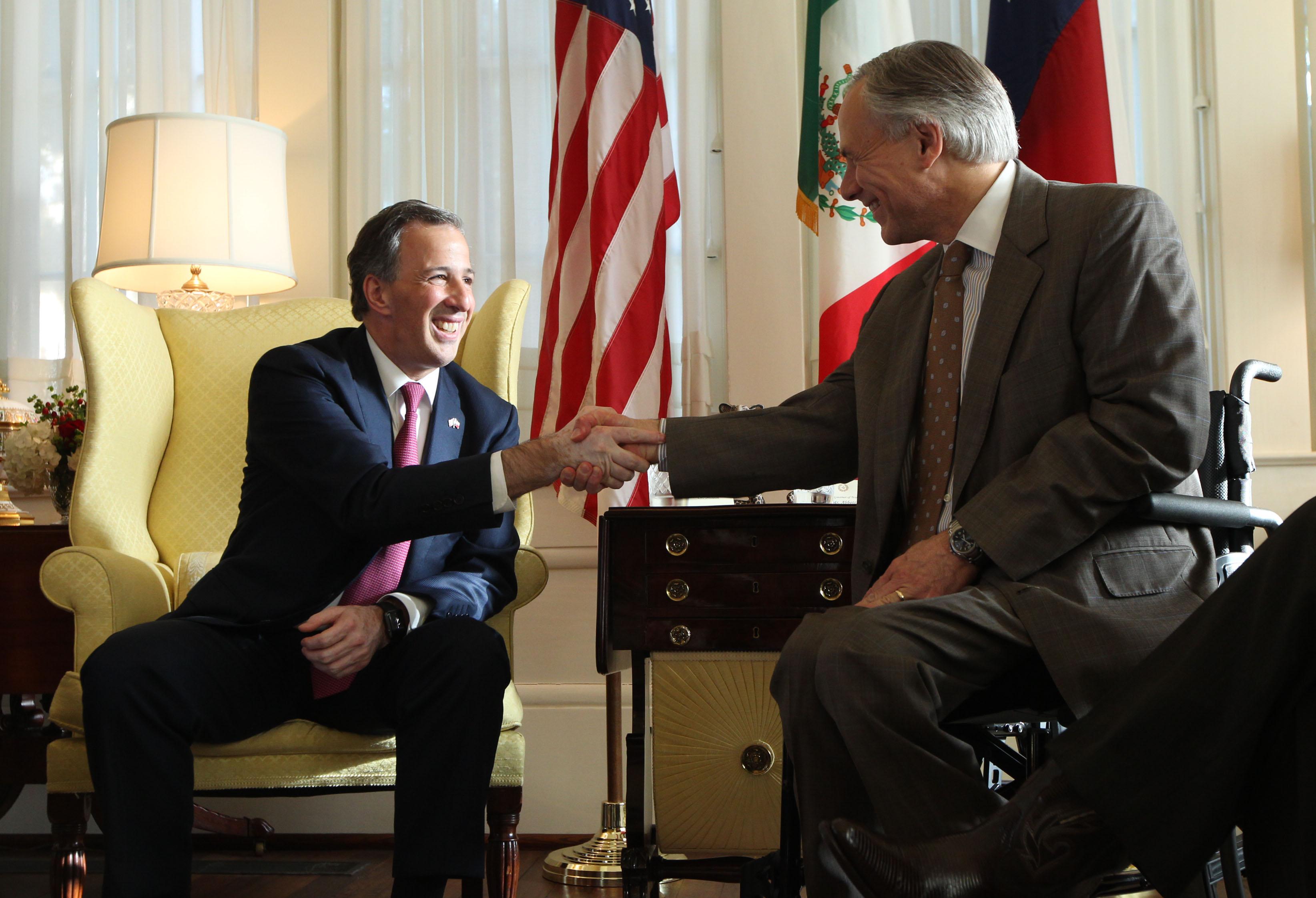 FOTO 1 Canciller Jos  Antonio Meade en encuentro con el gobernador de Texas  Greg Abbott.jpg