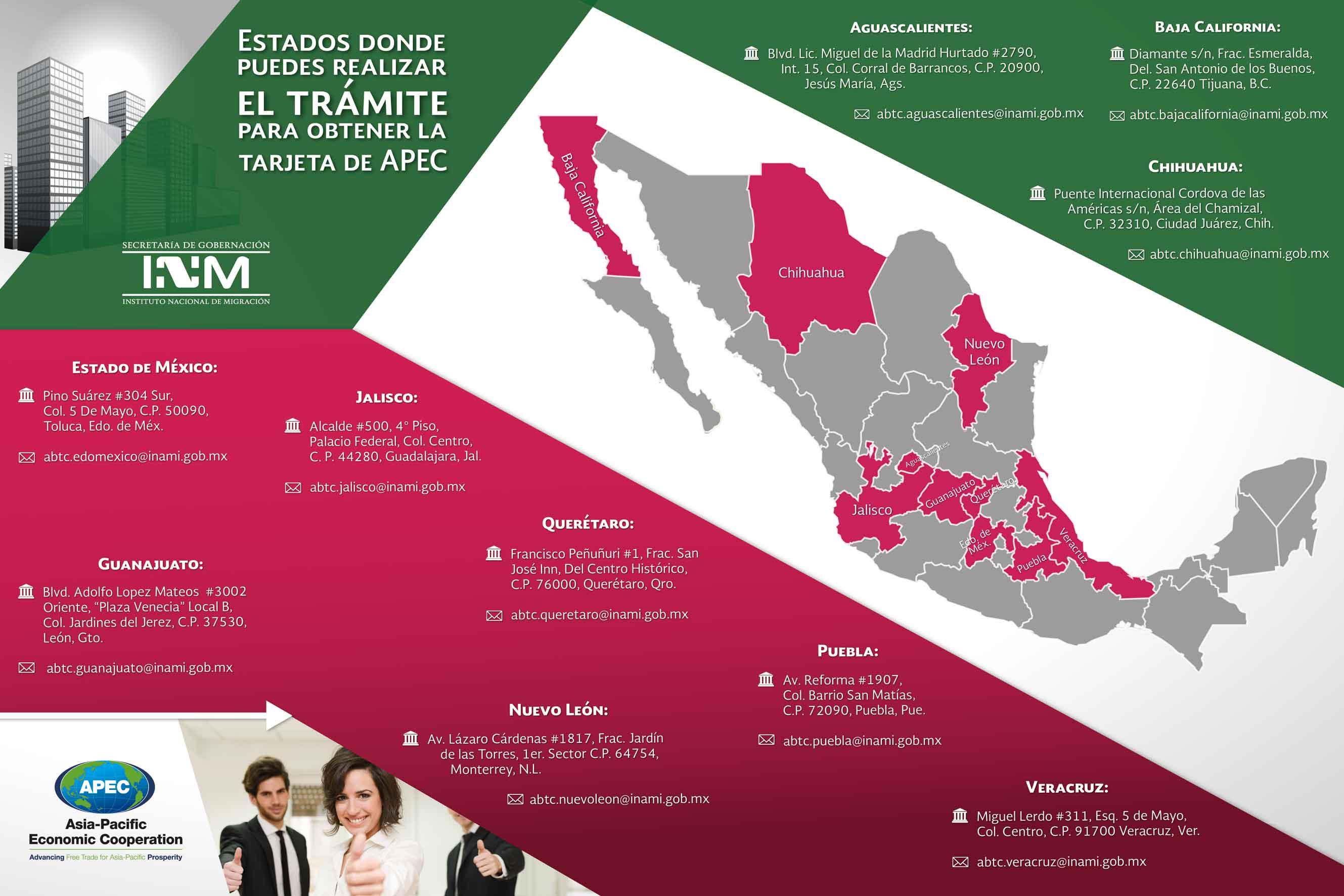 Tarjeta De Viaje De Negocios APEC Instituto Nacional De
