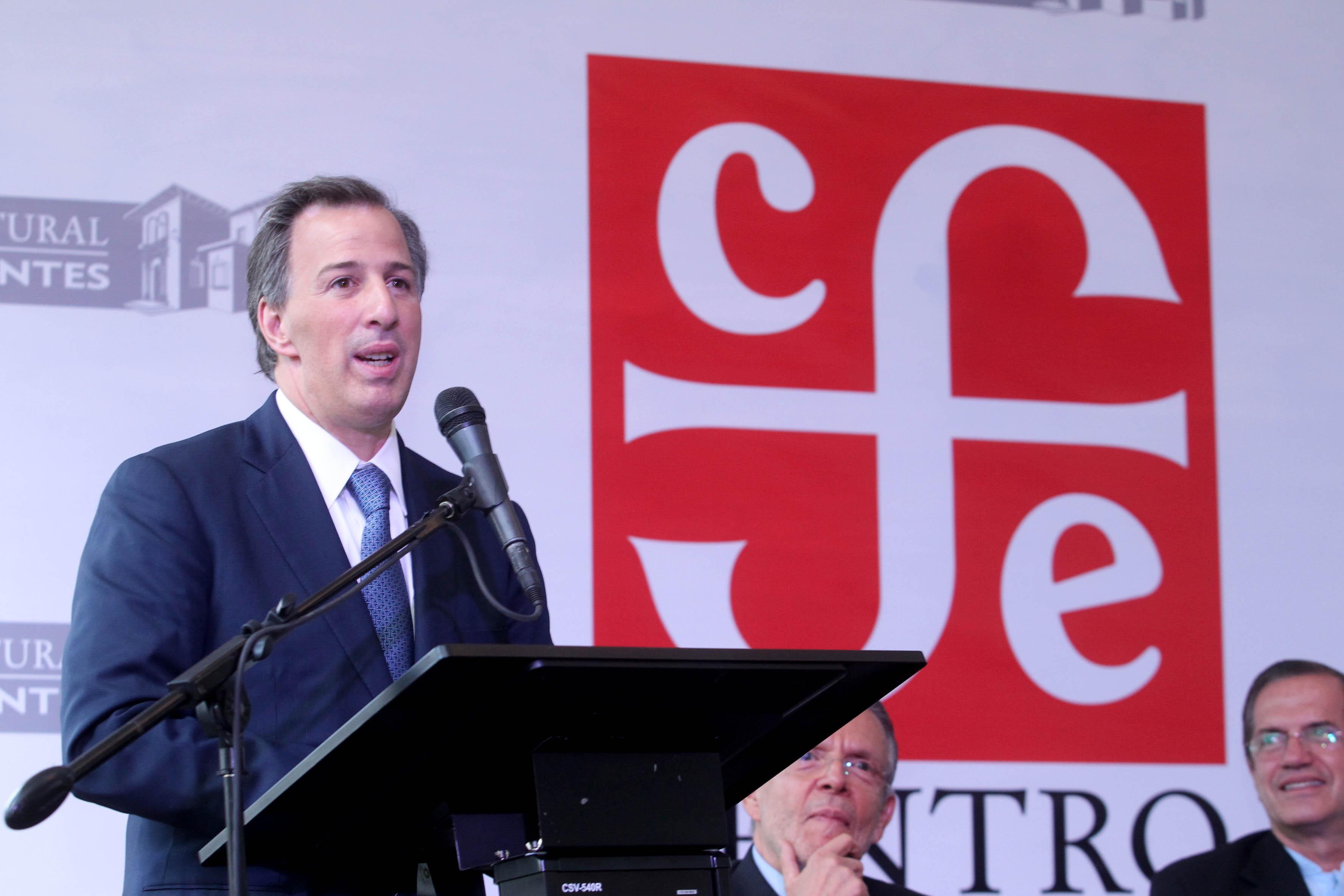 FOTO 2 El canciller Jos  Antonio Meade en la ceremonia de inauguraci n de la nueva filial del Fondo de Cultura Econ mica en Ecuador.jpg