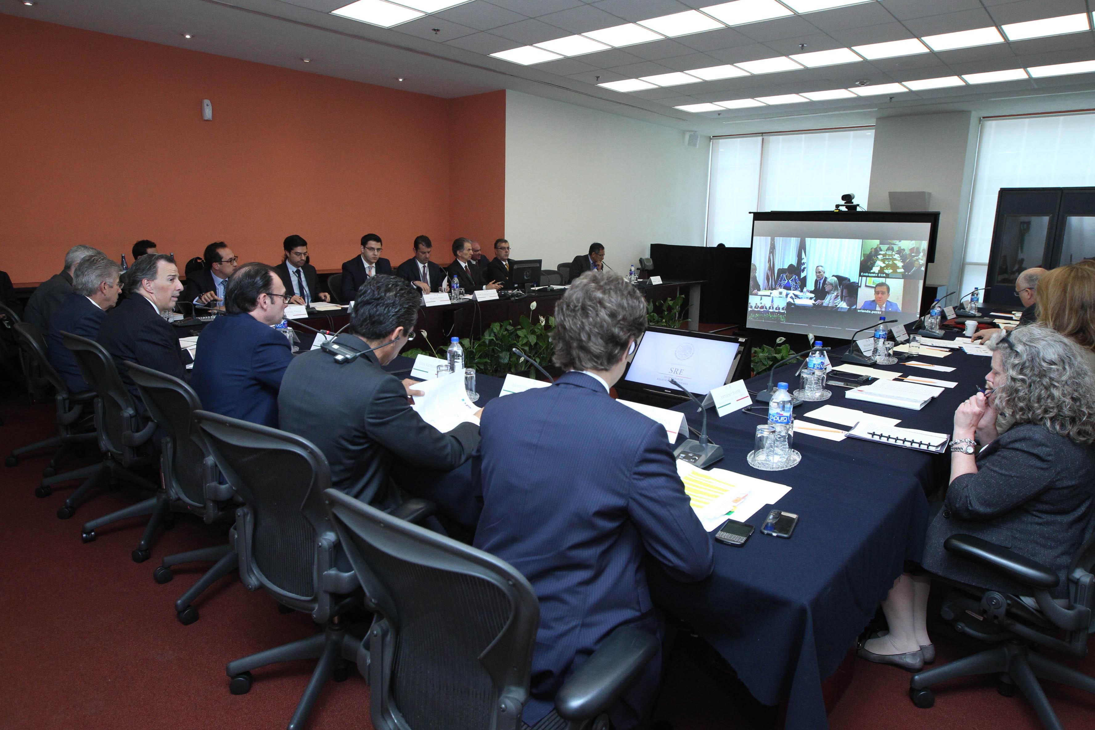 FOTO 2 Segunda videoconferencia de seguimiento al Di logo Econ mico de Alto Nivel  DEAN  entre M xico y Estados Unidosjpg