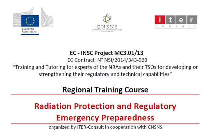 El objetivo del curso fue capacitar a los asistentes en la preparación de la respuesta a emergencia radiológicas y nucleares, haciendo énfasis en las funciones y  responsabilidades del Organismo Regulador Nuclear.
