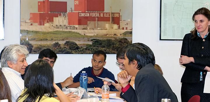 El curso incluía un taller en el que se analizó la emergencia de Fukushima.