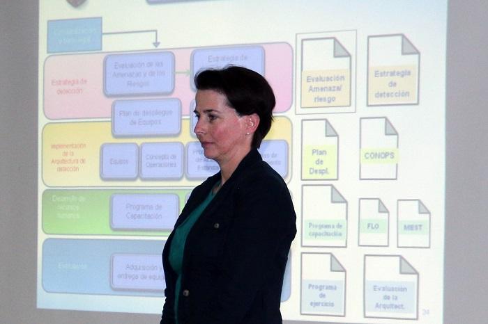 Sra. Valerie Rouillet-Chatelus. Oficial del INSSP para México y Coordinadora para América Latina y el Caribe, Sección de Gestión de la Información, División de Seguridad Nuclear, OIEA .