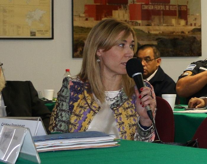 Dra. Cristina Domínguez, Gerente de Asuntos Jurídicos, Autoridad Reguladora Nuclear, Argentina.