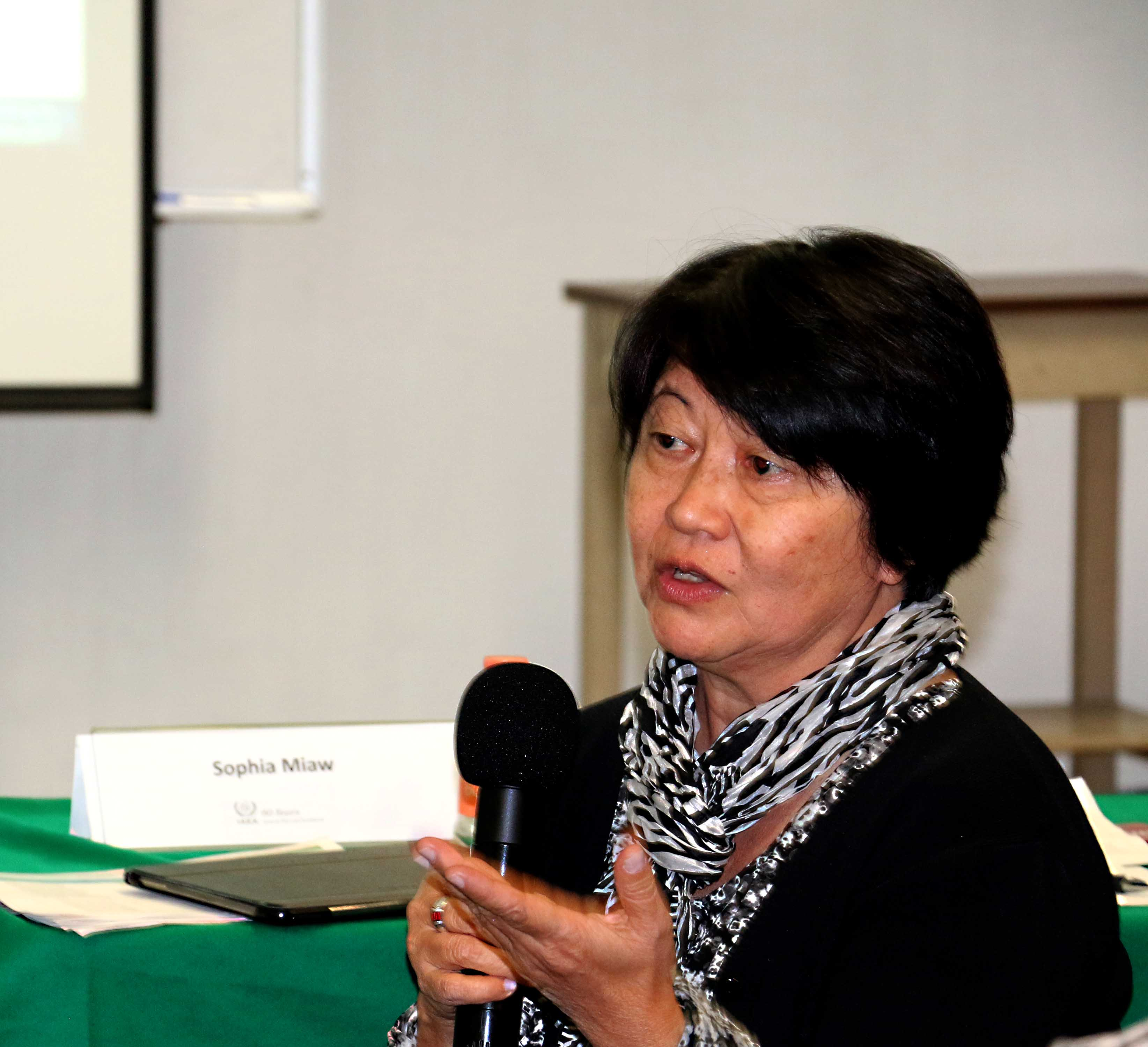 Sra. Sophia Miaw. Consultora del OIEA, Brasil.