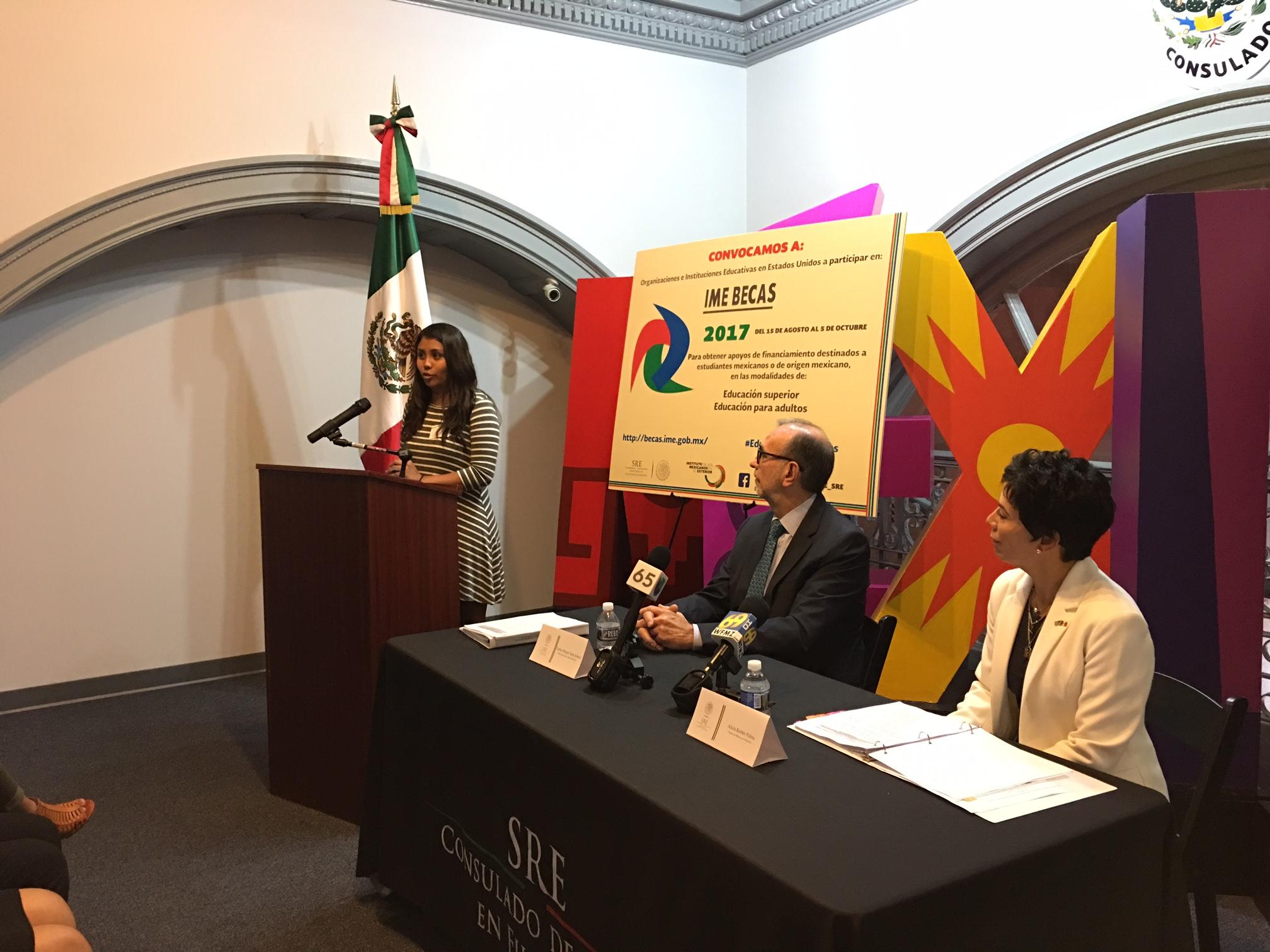 Subsecretario Carlos Sada Lanza Convocatoria Ime Becas 2017 Instituto De Los Mexicanos En El