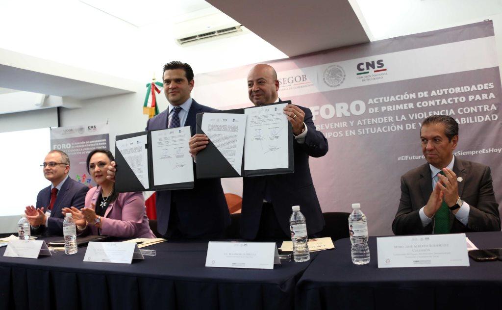 CNS firma carta de Intención con el municipio de Guadalupe, Nuevo León, para atender grupos vulnerables y capacitar autoridades para atender situaciones de violencia de forma oportuna
