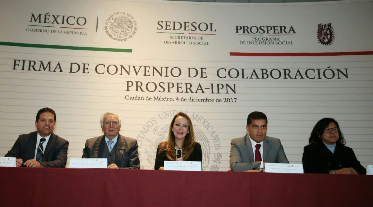 Firma de Convenio de Colaboración PROSPERA-IPN