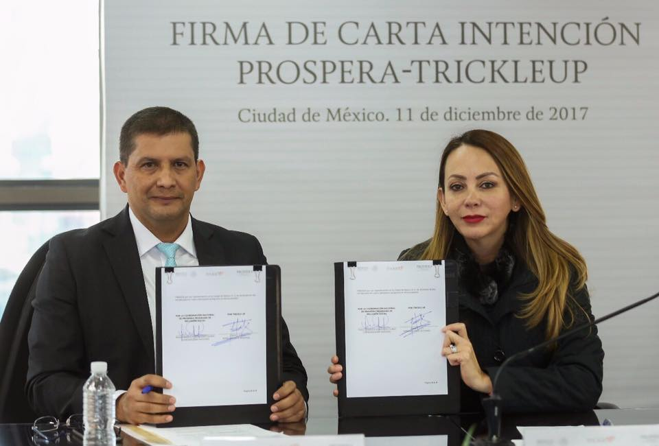 Firma de Carta Intención PROSPERA-TRICKLEUP