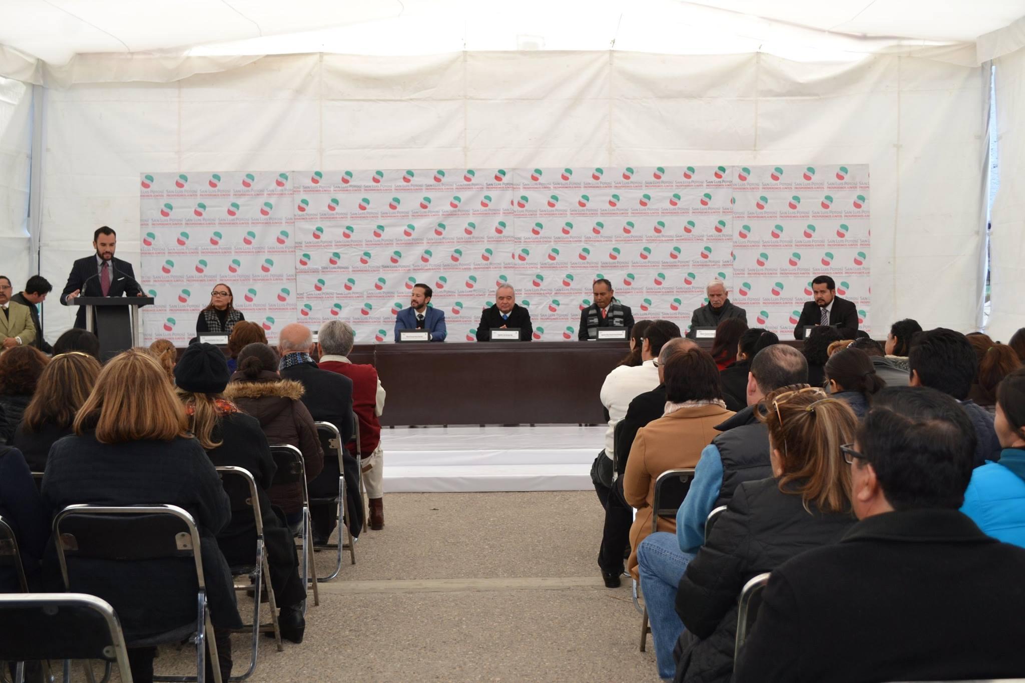 Conferencia del programa Recicla para leer de la Conaliteg, en el estado de San Luis Potosí