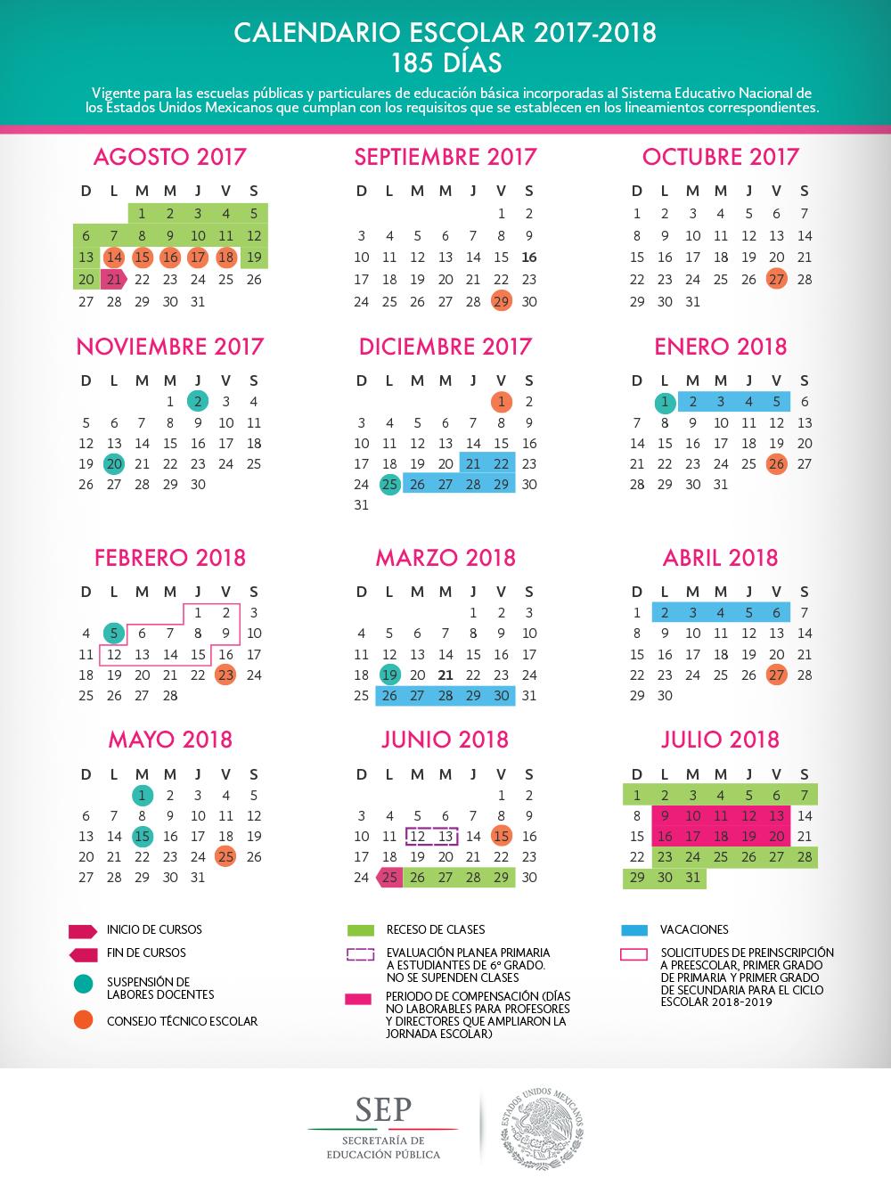 Calendario escolar secretara de educacin pblica gobierno gob calendario escolar thecheapjerseys Image collections