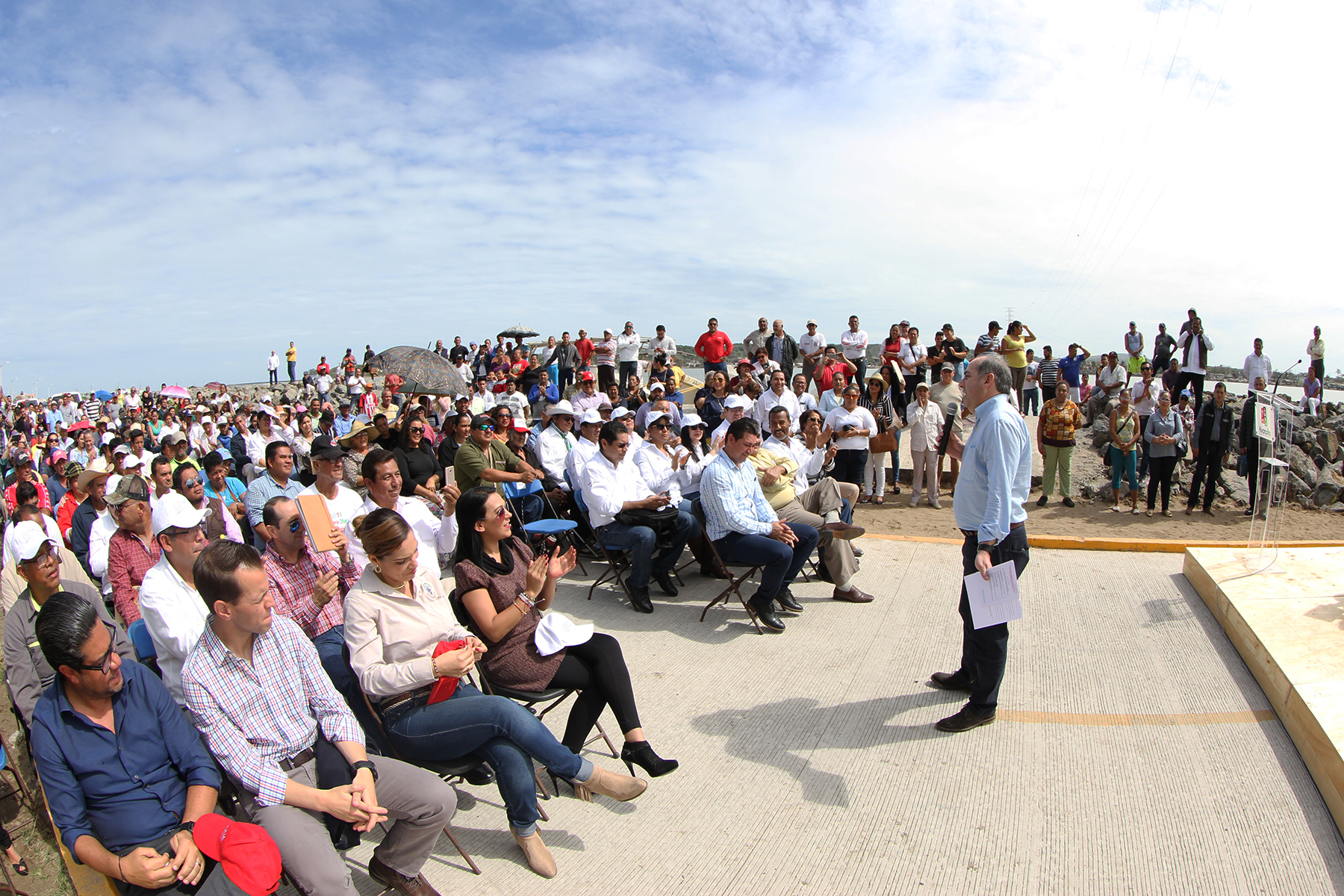 Se entregó la conclusión de la segunda etapa de las obras de protección de la margen izquierda del río Papaloapan.