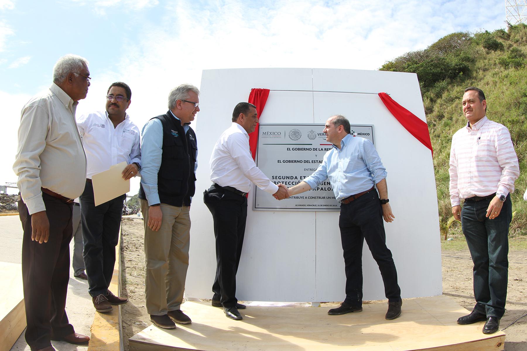 Con las obras realizadas se benefician tres mil habitantes de la comunidad La Trocha, en el municipio de Alvarado.