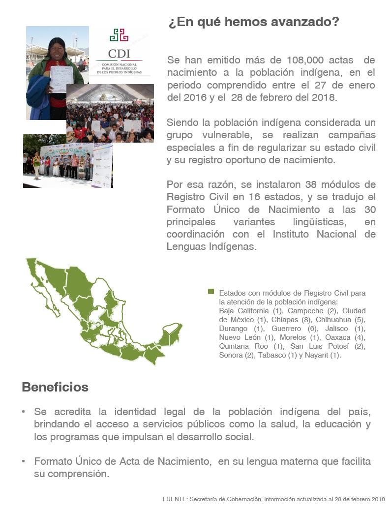 Acciones Que Impulsan La Regularización Del Estado Civil De