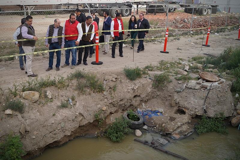 El titular de la Conagua explicó que se incrementará la capacidad de bombeo para el control y adecuada conducción de las aguas negras hacia la planta de tratamiento.