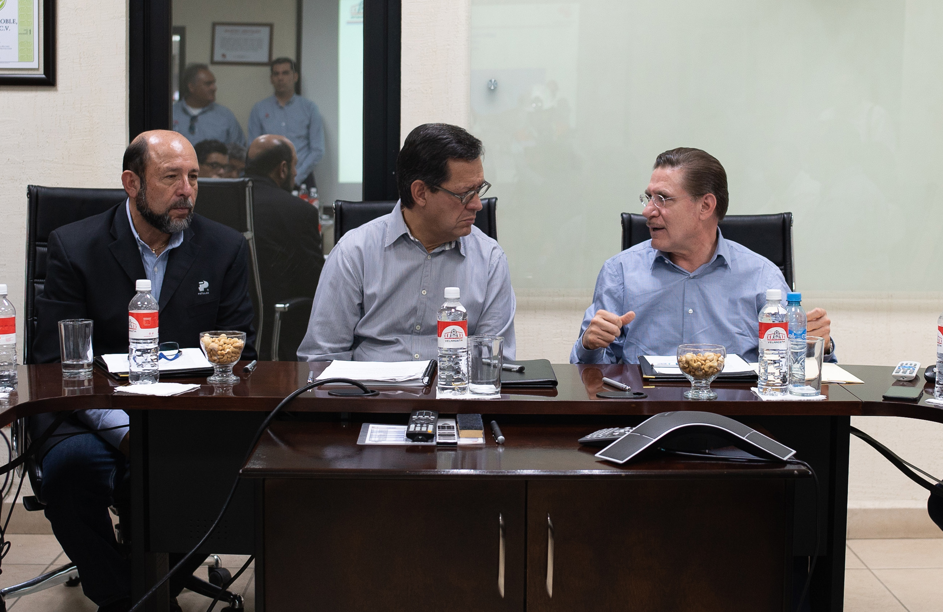 Junta previa al recorrido mina Velardeña-Peñones en el Día Mundial de la Seguridad y Salud en el Trabajo 2018