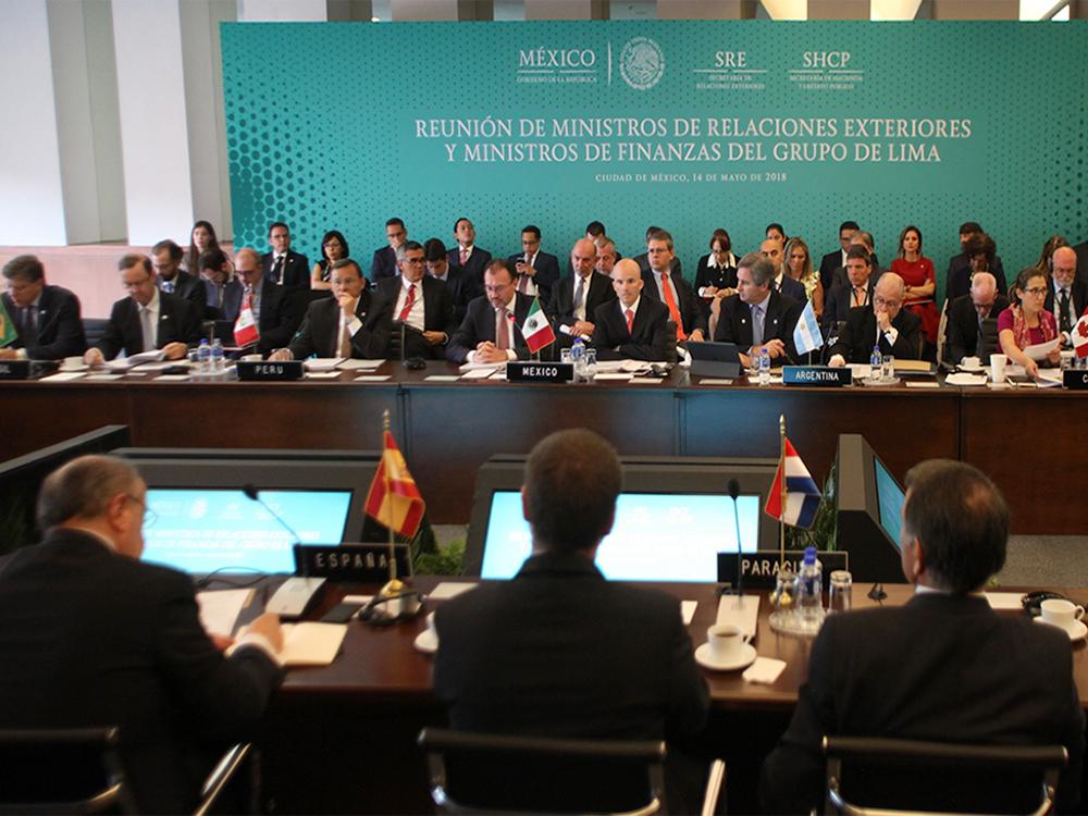 Panorámica de la Reunión de Ministros de Relaciones Exteriores y Ministros de Finanzas del Grupo de Lima