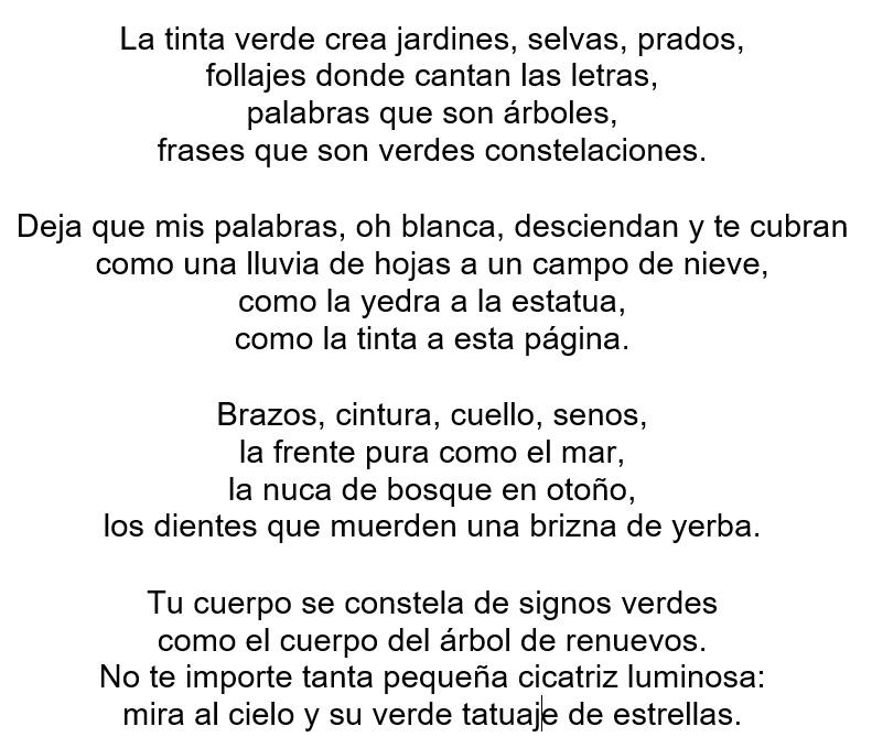 Poema Ambiental Escrito Con Tinta Verde Secretaría De