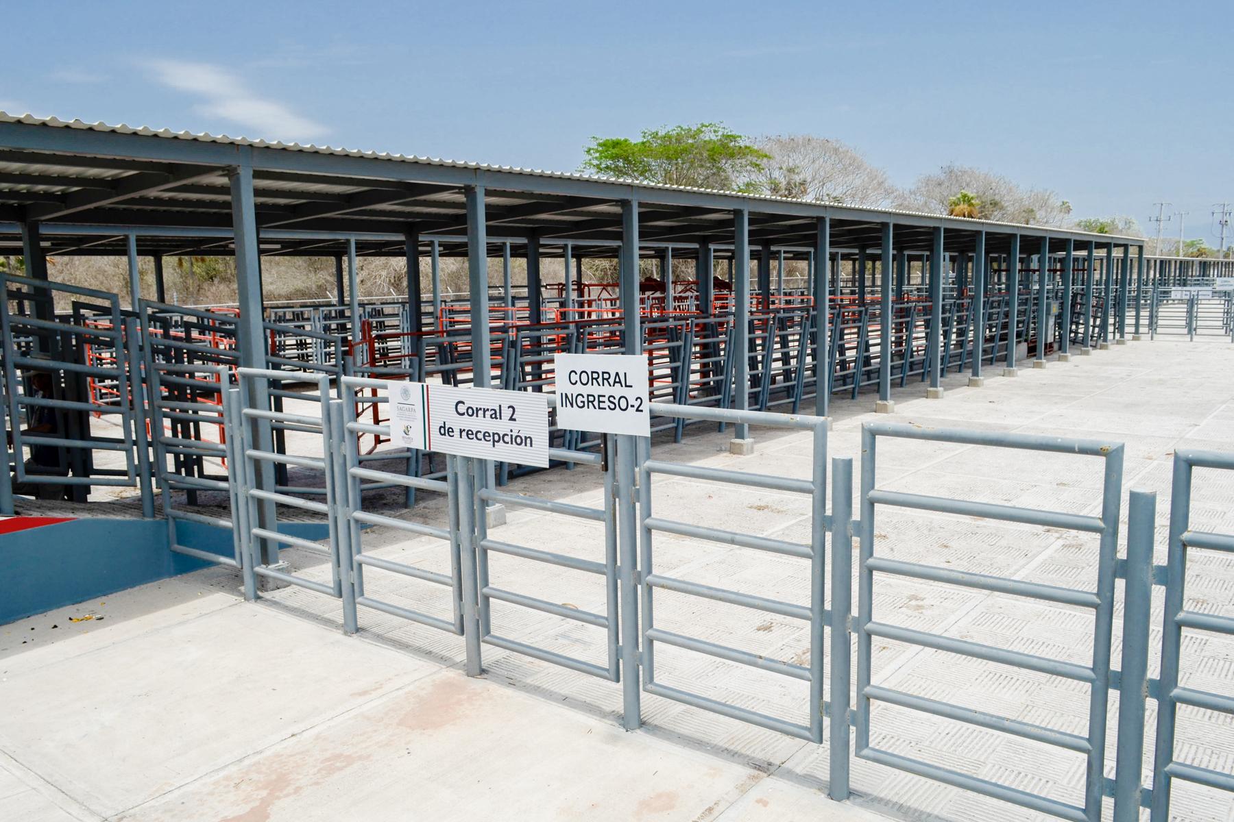 Zona para ingreso de vehículos pesados