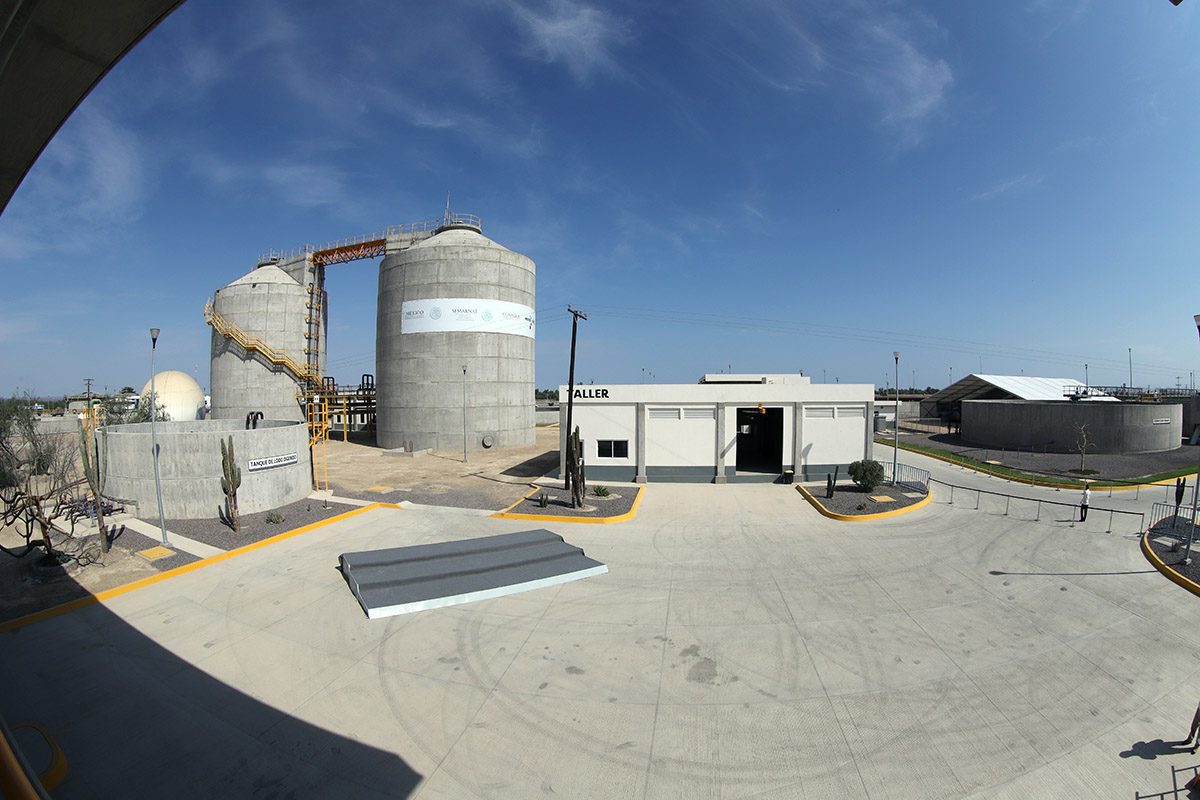 Con la planta de tratamiento entregada hoy, en La Paz se saneará cien por ciento de las aguas residuales, en beneficio de los habitantes y el reúso en el sector agrícola de BCS.