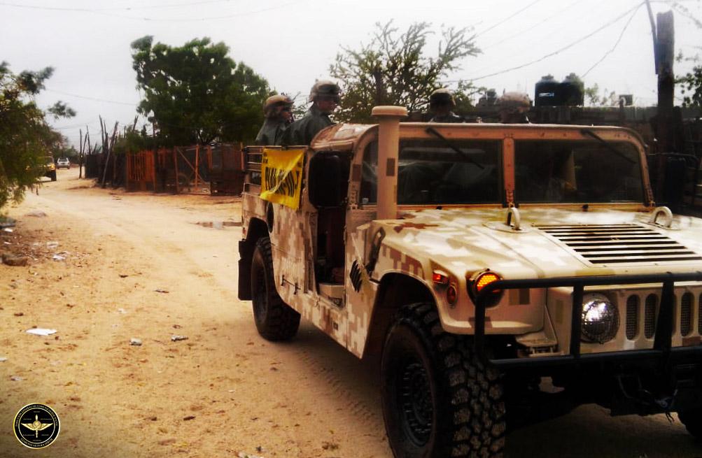 Vehículo militar del Ejército Mexicano.