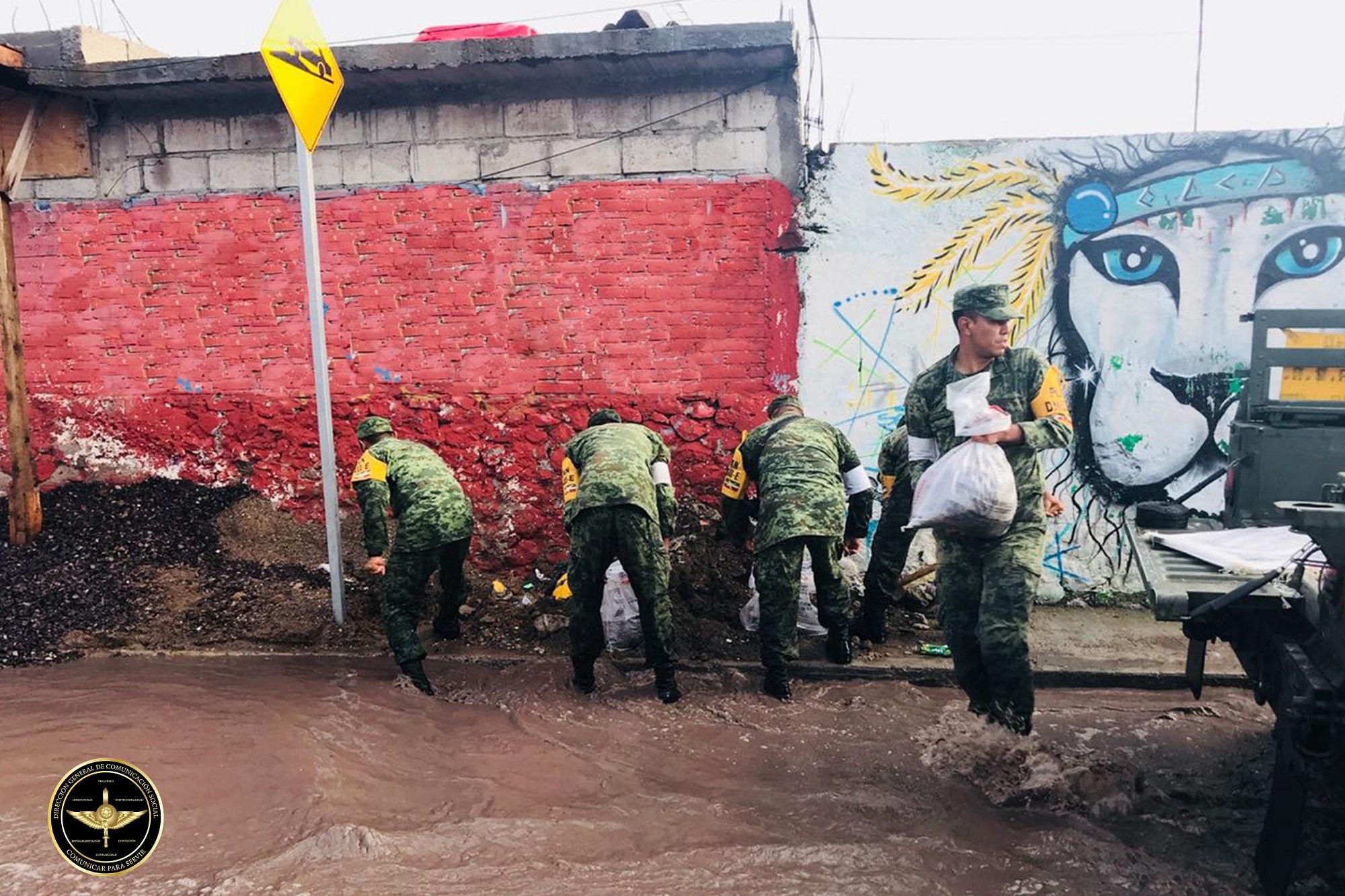 Personal del Ejército Mexicano en aplicación del Plan DN-III-E