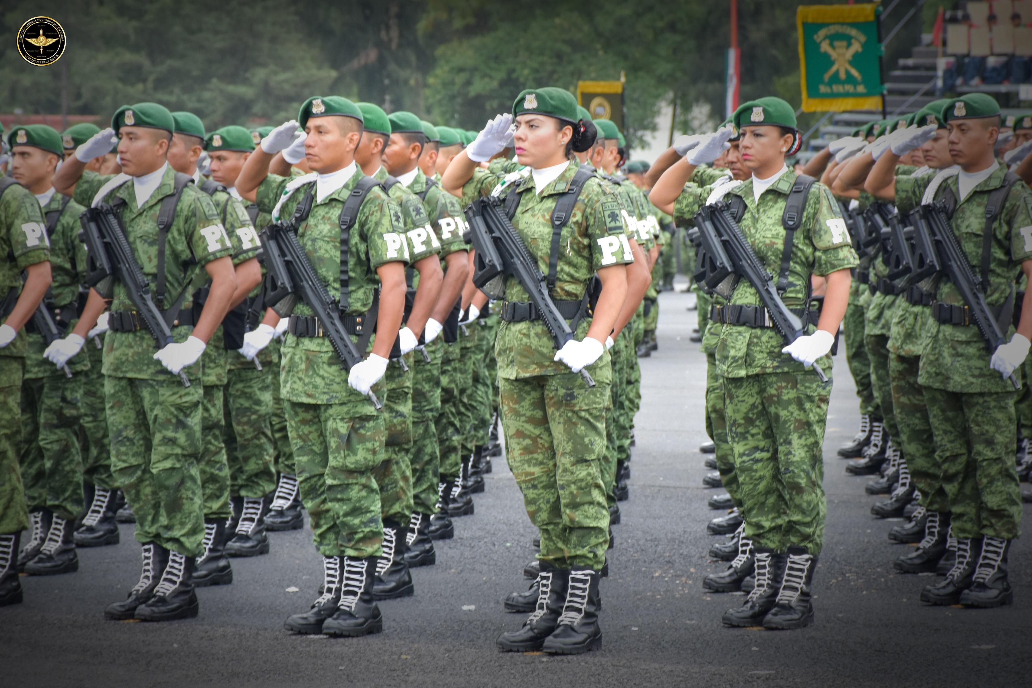Personal de la Policía Militar del Ejército Mexicano.