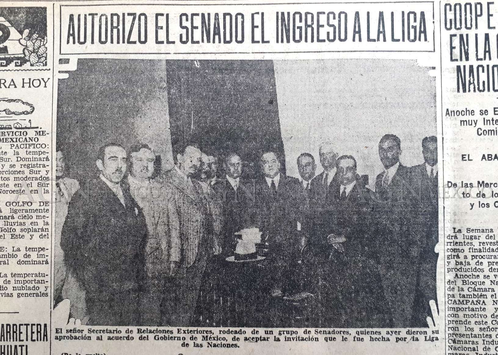 Agnrecuerda El Ingreso De Mexico A La Sociedad De Naciones Archivo General De La Nacion Gobierno Gob Mx