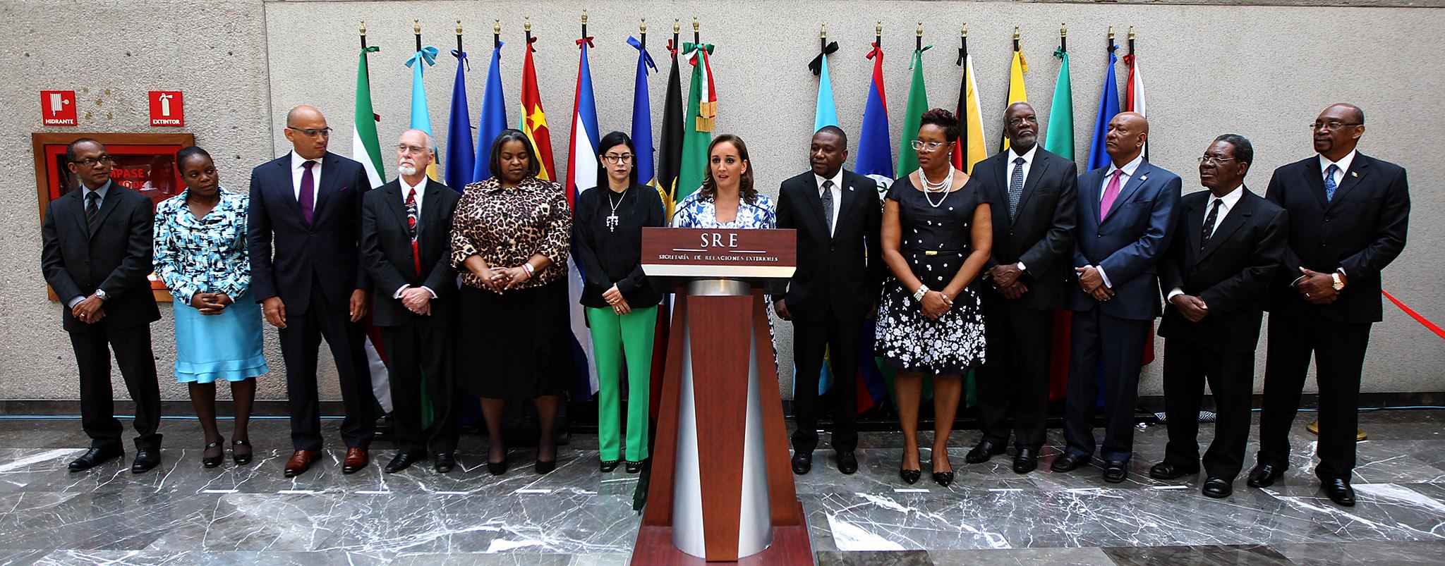 FOTO 1 La canciller Claudia Ruiz Massieu inaugur  oficina para embajadas concurrentes del Caribe.jpg