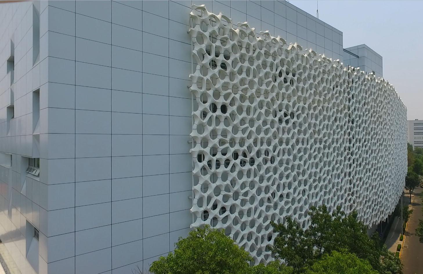 Diseño arquitectónico del edificio del Hospital General Dr. Manuel Gea González