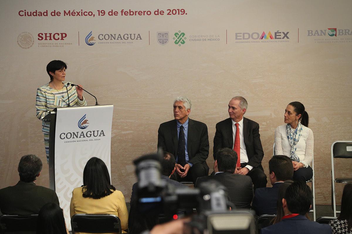 Se unen Conagua, CDMX y EdoMéx para la mejor regulación y desalojo de aguas pluviales y residuales del Valle de México.