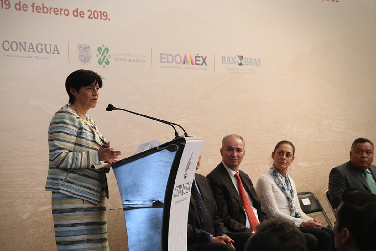 Blanca Jiménez aseveró que para el Gobierno de México las obras de prevención de inundaciones son de vital importancia, por lo que también afirmó que la dependencia a su cargo contribuirá con herramientas de alertamiento temprano.