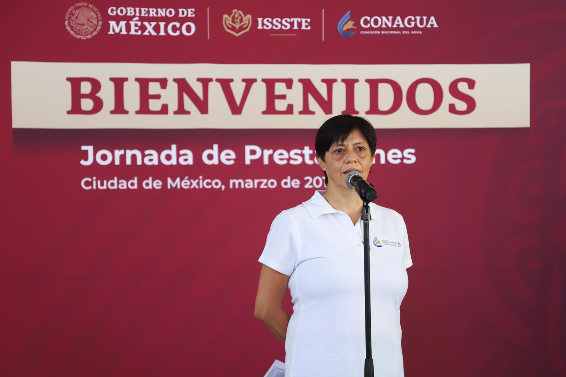 """La Directora General de Conagua informó que la jornada de Prestaciones """"El ISSSTE contigo"""" en la Conagua durará tres días."""