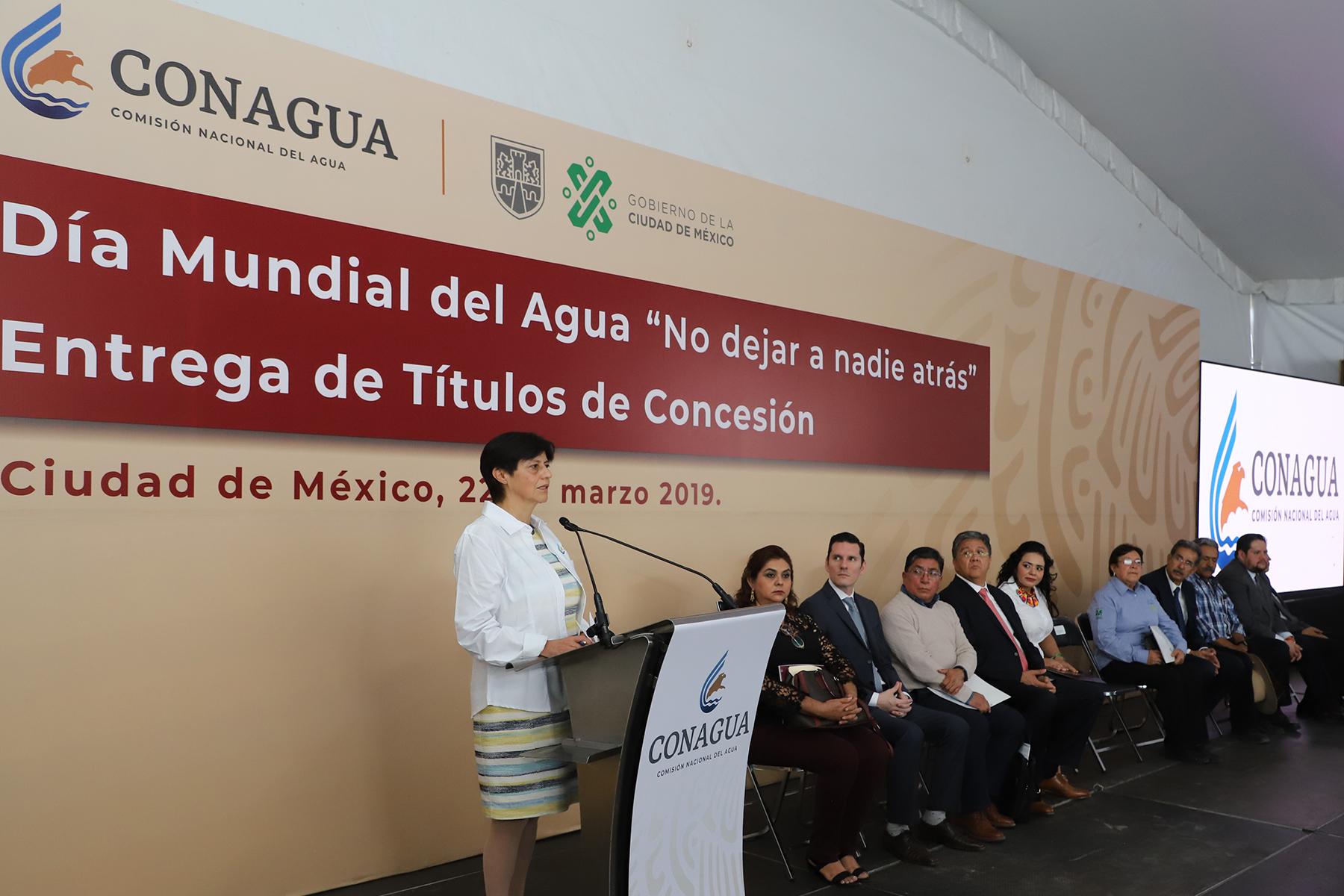 """La Conagua conmemora el Día Mundial del Agua, con el lema """"No dejar a nadie atrás""""."""