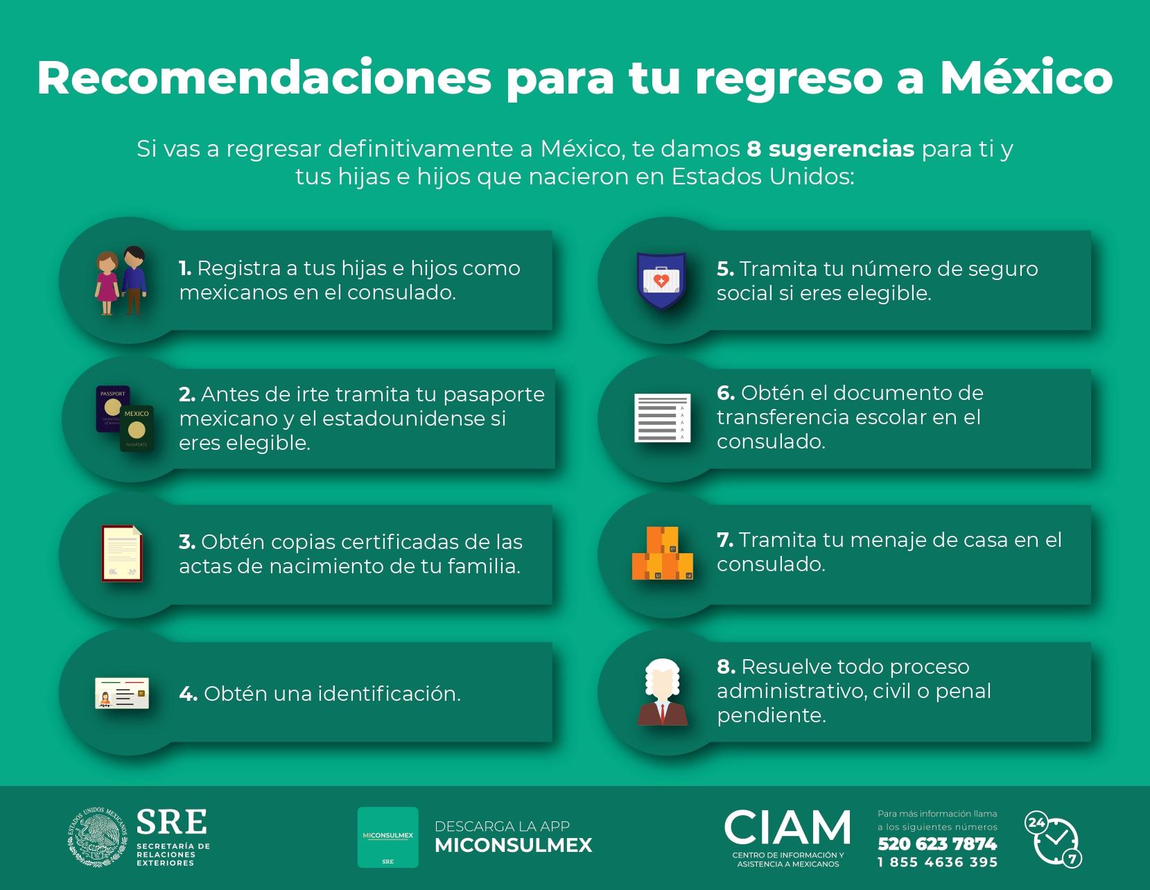 Recomendaciones para tu regreso a México | Centro de