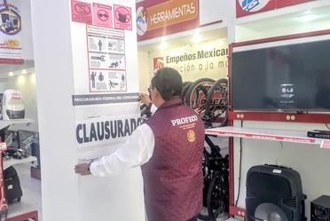 Clausura Casas de Empeño en CDMX