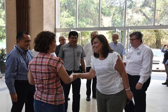 La Secretaria de Energía, Ing. Norma Rocío Nahle García, visitó las instalaciones del Instituto Nacional de Electricidad y Energías Limpias (INEEL)