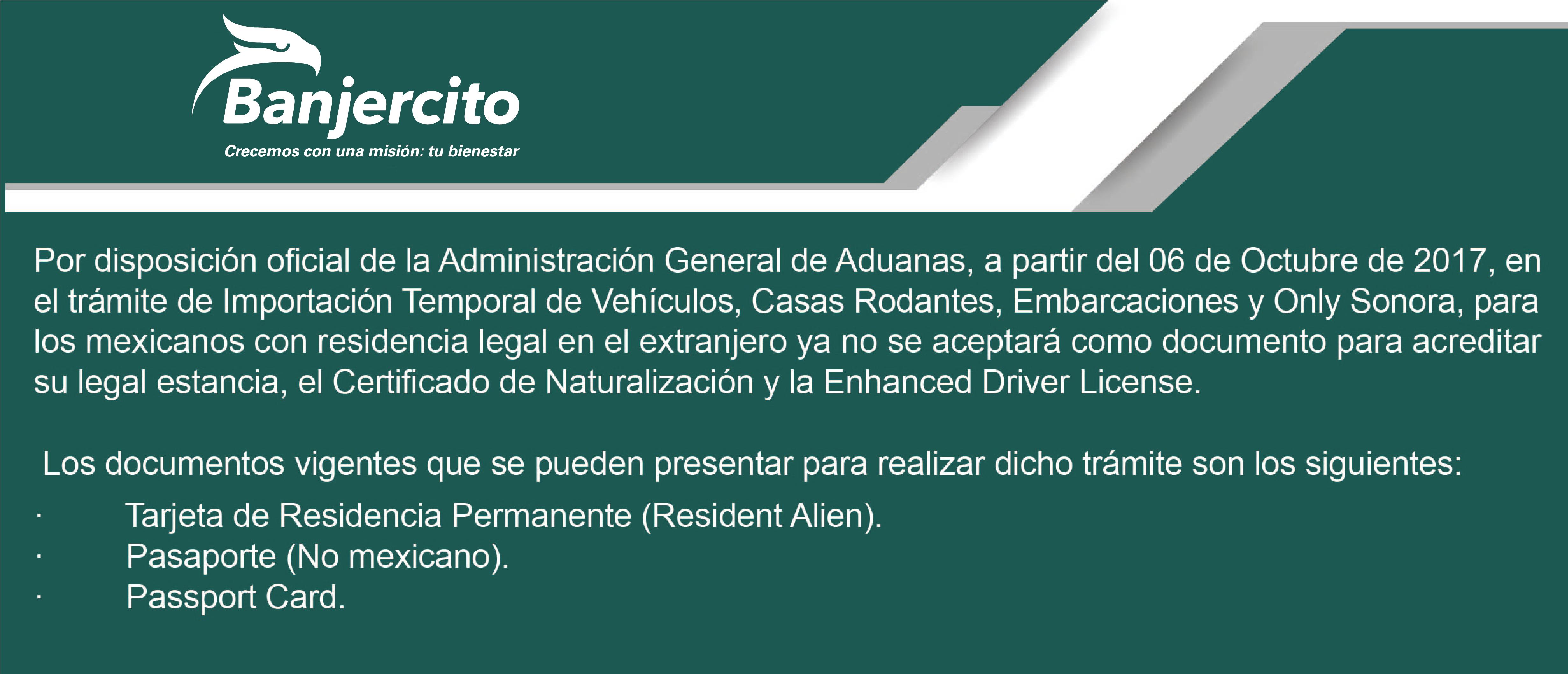 Importación Temporal De Vehículos Banco Nacional Del