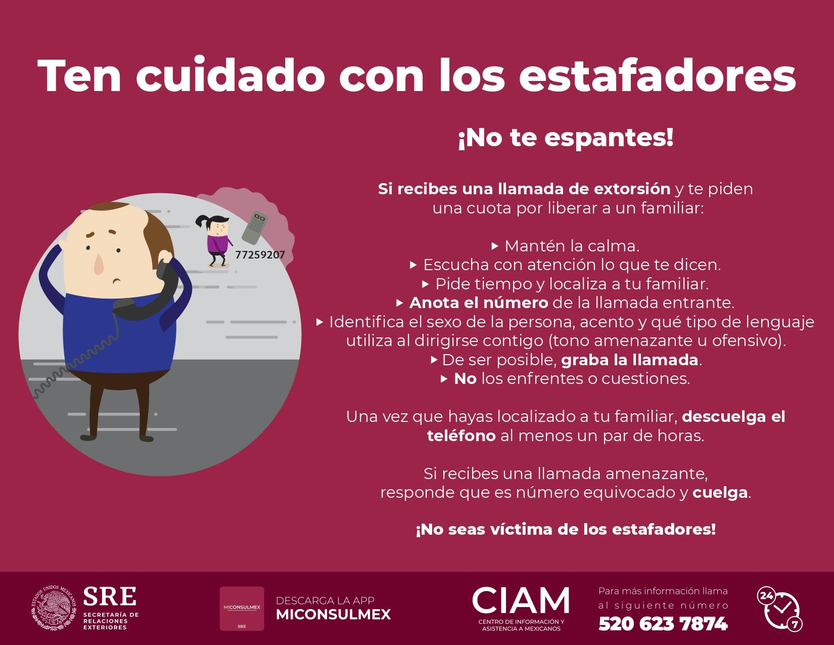 Qué Hacer En Caso De Extorsión Centro De Información Y Asistencia A Mexicanos Gobierno Gob Mx