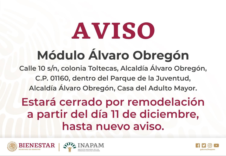 Ciudad De México Módulos Inapam Instituto Nacional De